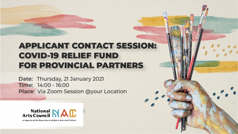 NAC National Arts Council Contact Session COVID-19 Relief Fund Provincial Partners Funding Artists Creative Sector