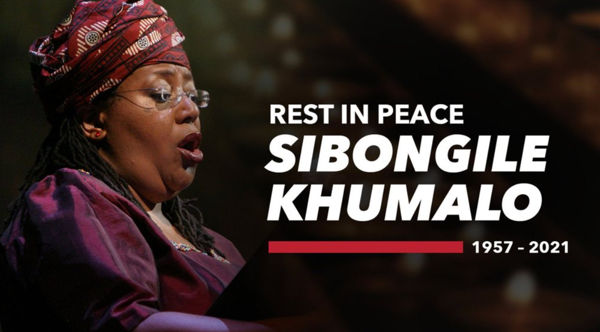 Dr Sibongile Khumalo RIP Rest in Peace South Africa Signer Artist Nac National Arts Council