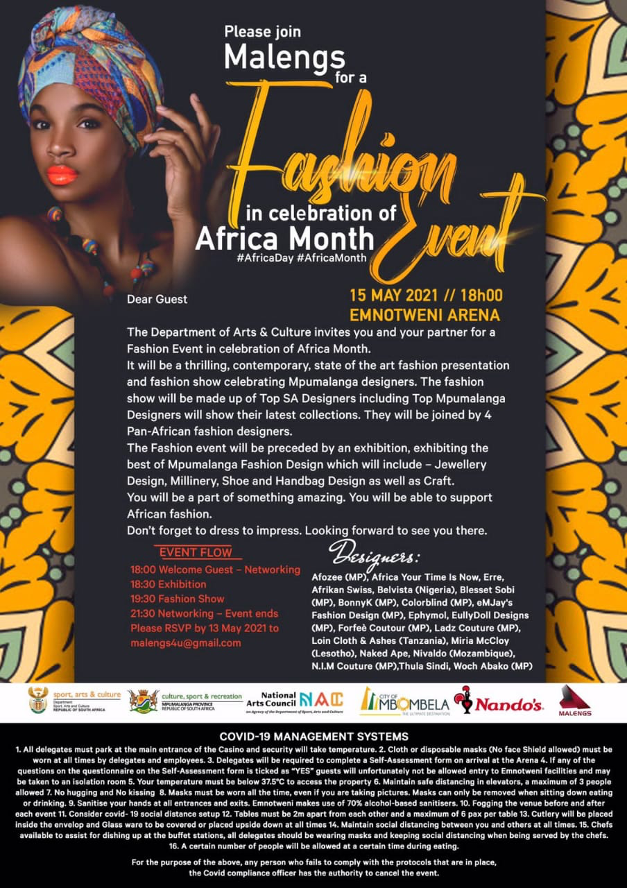 Malengs Fashion Event in Celebration of Africa Month