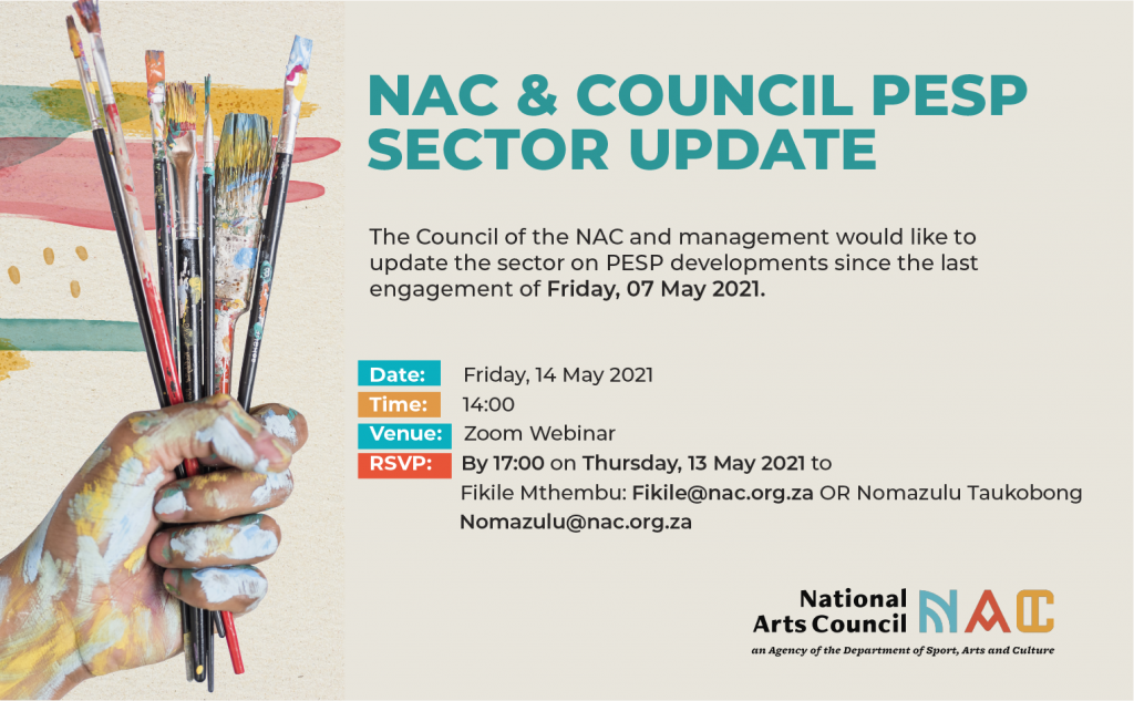 PESP NAC National Arts Council Presidential Employment Stimulus Programme Industry Briefing