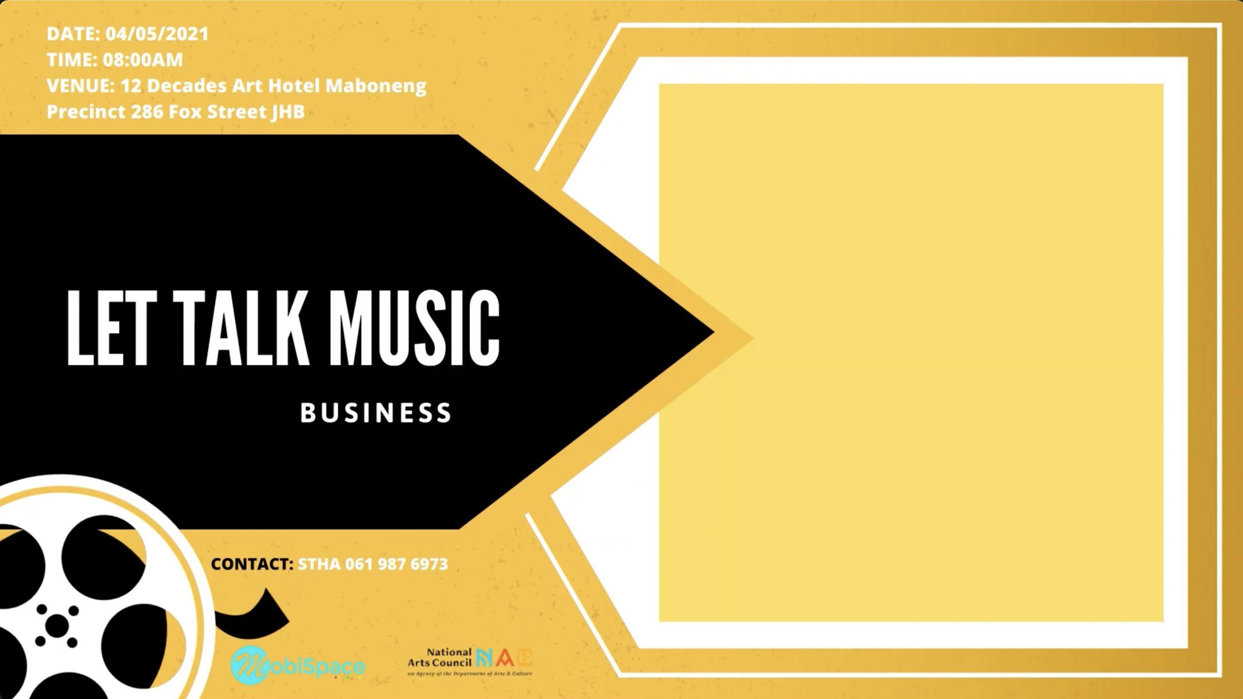 let's talk music business