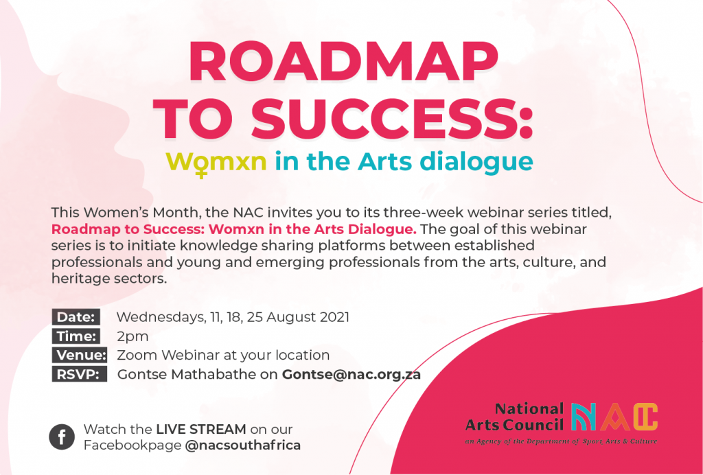 NAC Womens Month Womens Day Roadmap to Success Webinar Series Womxn in the Arts
